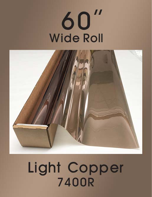 "Light Copper 60"" - 7400R - Colored Window Film"