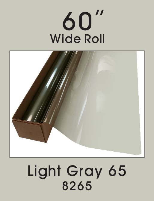"Light Gray 65 - 60"" - 8265 - Colored Window Film"