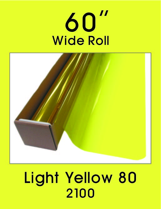 "Light Yellow 80 - 60"" - 2100 - Colored Window Film"