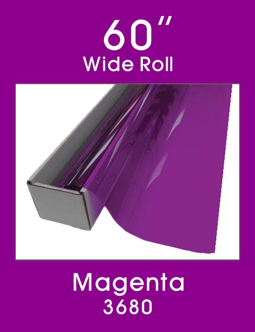 "Magenta 60"" - 3680 - Colored Window Film"
