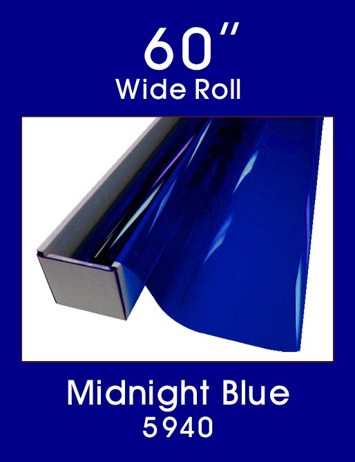"Midnight Blue - 60"" - 5940 - Colored Window Film"