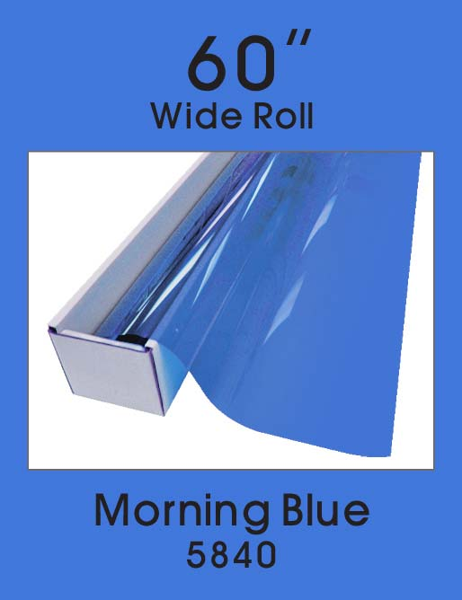 "Morning Blue 60"" - 5840 - Colored Window Film"