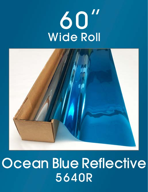 "Ocean Blue Reflective 60"" - 5640R - Colored Window Film"