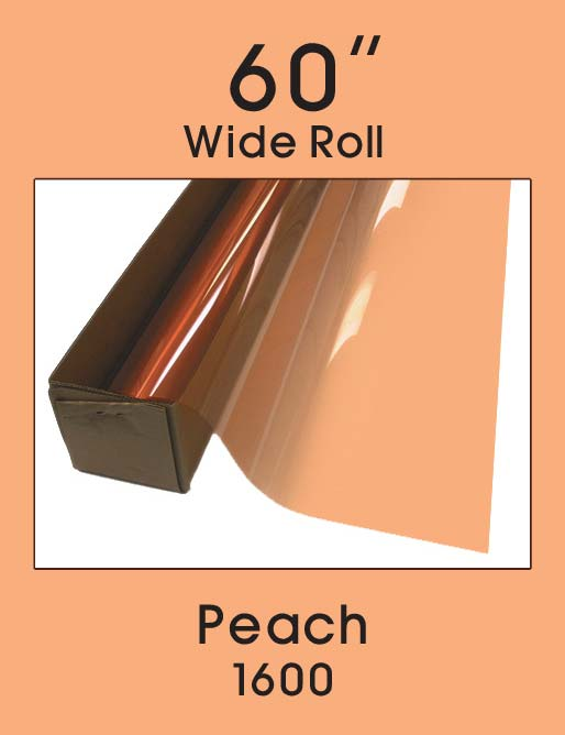 "Peach 60"" - 1600 - Colored Window Film"