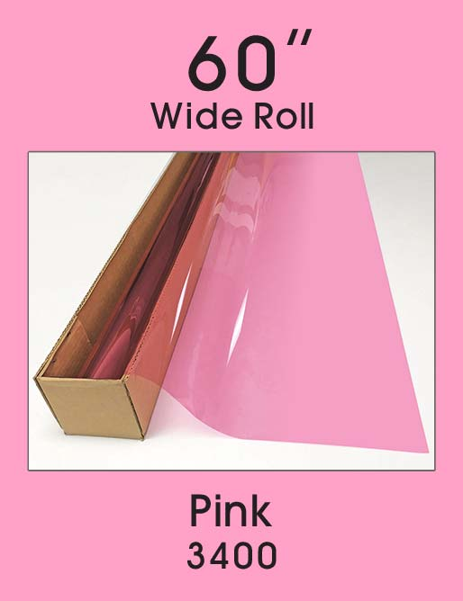 "Pink 60"" - 3400 - Colored Window Film"