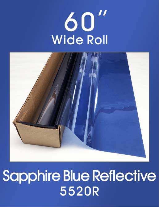 "Sapphire Blue Reflective 60"" - 5520R - Colored Window Film"
