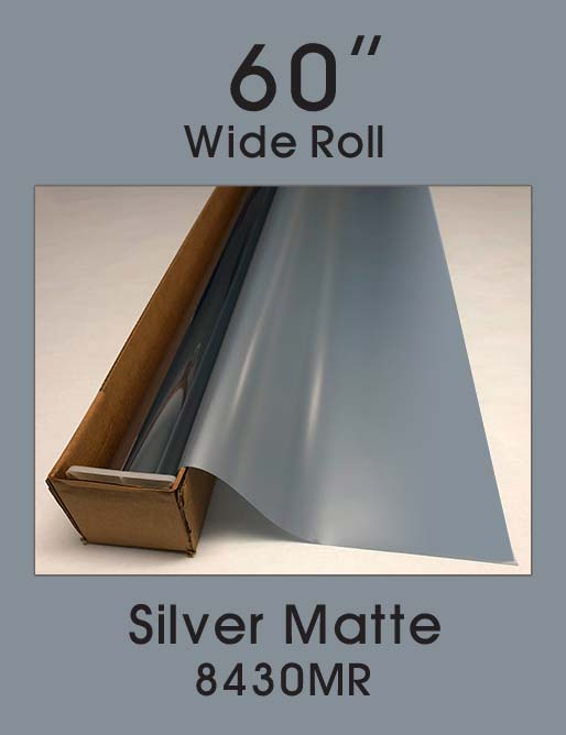 "Silver Matte - 60"" - 8430MR - Colored Window Film"