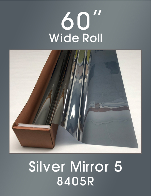 "Silver Mirror 5 - 60"" - 8405R - Colored Window Film"