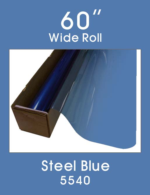 "Steel Blue 60"" - 5540 - Colored Window Film"