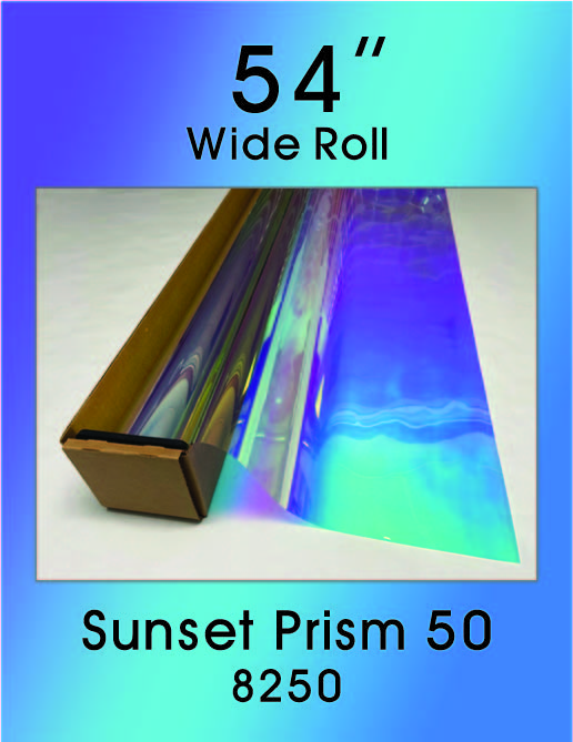 "Sunset Prism 50 - 54"" - 8250 - Colored Window Film"