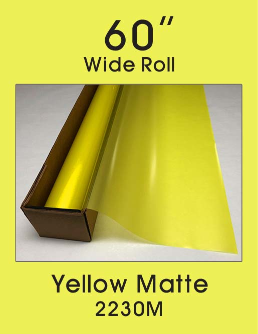 "Yellow Matte - 60"" - 2230M - Colored Window Film"